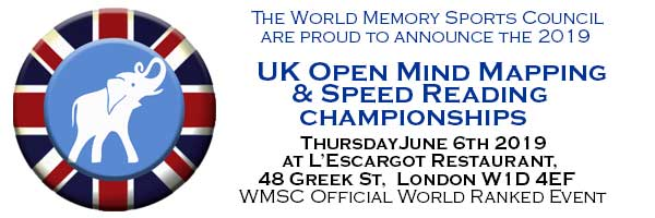 Uk Open Speed Reading And Mind Mapping Championships June 6th The World Memory Championships