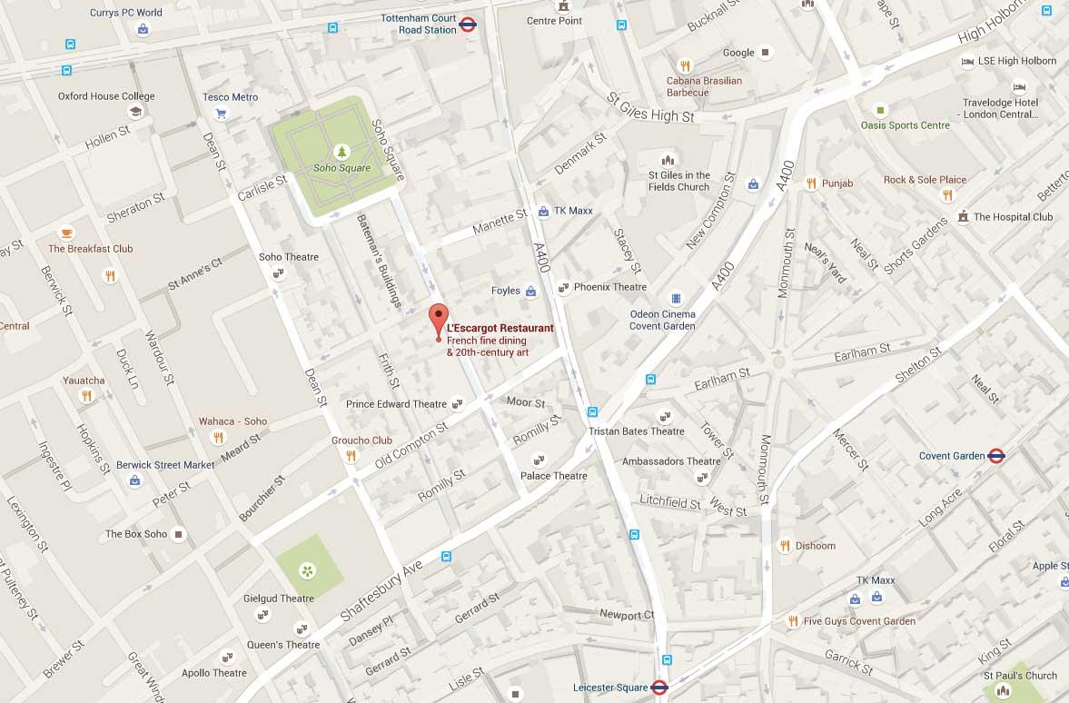 Map Soho